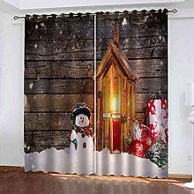 EWRMHG Blackout Curtains White christmas snowman