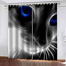 EWRMHG Super Soft Lined Eyelet Curtains Abstract