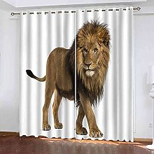 EWRMHG Super Soft Lined Eyelet Curtains African