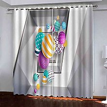 EWRMHG Super Soft Lined Eyelet Curtains Colorful