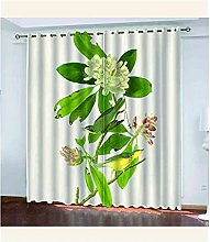 EWRMHG Super Soft Lined Eyelet Curtains Green
