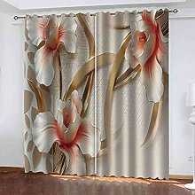 EWRMHG Super Soft Lined Eyelet Curtains Relief
