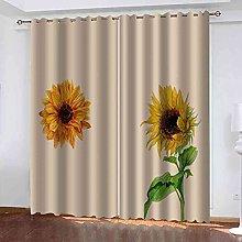 EWRMHG Super Soft Lined Eyelet Curtains Sunflower