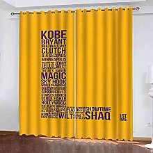 EWRMHG Super Soft Lined Eyelet Curtains Yellow
