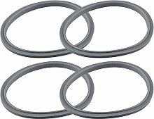 Exanko 4 Pack Gray Gaskets Replacement Part for
