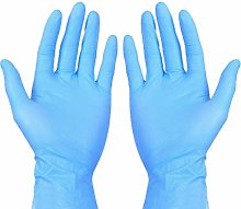 Exceart 100 Pieces Disposable Nitrile Gloves Latex