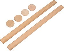 EXCEART 2Pcs Wooden Closet Rod Heavy Duty for