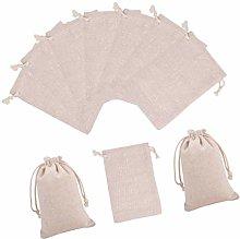 EXCEART 50pcs Cotton Drawstring Bags Eco Friendly