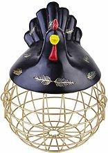Exceart Egg Storage Basket Iron Metal Wire Chicken