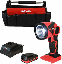 Excel 18V Cordless LED Flashlight Torch with 1 x