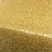 Excellent Houseware Gold Floral Damask Tablecloth