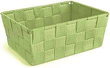 Excelsa Basket, Polypropylene, Green, 21 x 16 x