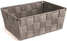 Excelsa Basket, Polypropylene, Grey, 21 x 16 x 8.5