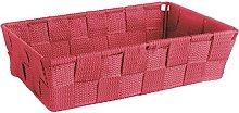 Excelsa Basket, Polypropylene, Red, 22.5 x 15.5 x