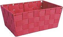 Excelsa Basket, Polypropylene Red, 25 x 17.5 x 11