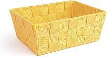 Excelsa Basket, Polypropylene, Yellow, 21 x 16 x
