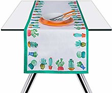 Excelsa Cactus Table Runner, Cotton, Green and