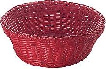 Excèlsa Woven Basket, 20 cm, Red