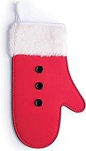 Excelsa Xmas Oven Glove, Neoprene, Red/White
