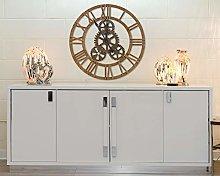 EXCLUSIVE BROWN WOODEN COG WALL CLOCK, 90cm