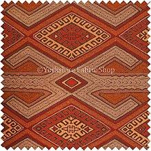Exclusive Fabric Brown Orange Red Colour Kilim