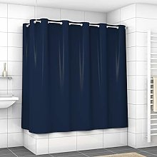 EXCLUSIVE Shower Curtain with metal eyelets (Navy