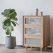 EXCLVEA Sideboard Fashion Solid Wood Tea Cabinet