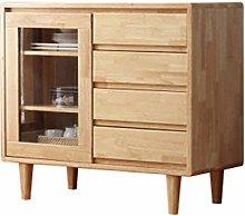 EXCLVEA Sideboard Solid Wood Tea Cabinet Modern