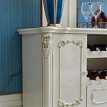 EXCLVEA Sideboard Wooden Tea Cabinet Luxury Simple