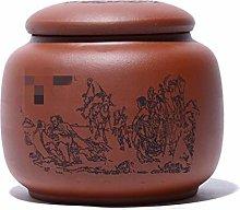 EXCLVEA Tea Tins Cans Eight Immortals Figure Tea