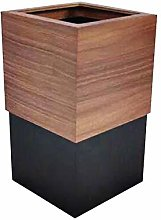 EXCLVEA Trash Can Wooden Trash Can Home Office