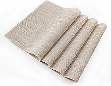 EXCO Placemats Linen Fabric Table Mats Washable 12