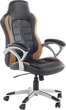 Executive Chair Black with Golden Brown PRINCE