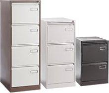 Executive Filing Cabinet, Grey, Free Standard