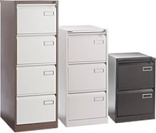 Executive Filing Cabinet, Silver, Free Standard