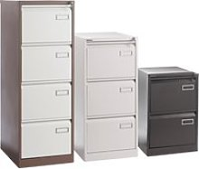 Executive Filing Cabinet, White, Free Standard