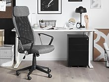 Executive Office Chair Grey Mesh Gas Lift Height