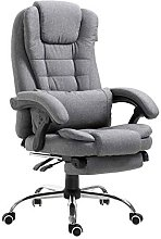 Executive Reclining Computer Desk Chair with