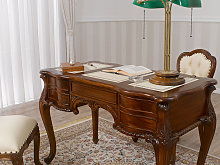 Executive writing desk Diana Chippendale style 150
