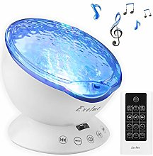 Exelme Night Light Projector Ocean Wave - Sound