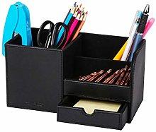 Exerz Desk Organiser Faux Leather/Desk Tidy/Pen