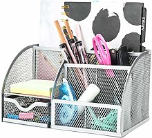 EXERZ Desk Organiser/Mesh Desk Tidy Caddy/Pen