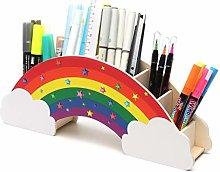 EXERZ Desk Organiser Rainbow with Star Stickers/