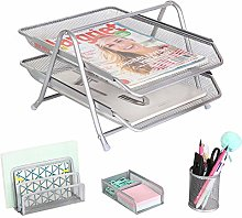 Exerz Office Tray Set Mesh 4pcs - 2 Tier Letter