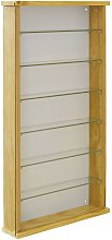 EXHIBIT - Solid Wood 6 Shelf Glass Wall Display