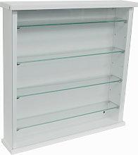 EXHIBIT - Wood 4 Shelf Glass Wall Display Cabinet