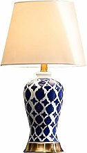 Exhibition Hall Decoration Lamp Blue Ceramic Table
