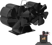 EXLECO Fireplace Fan 12 Blades Powerless Fireplace