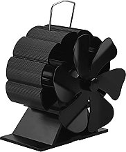 EXLECO Fireplace Fan 6 Blades Fireplace Stove Fan