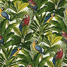 Exotic Bird Parrot Tropical Leaves Wallpaper